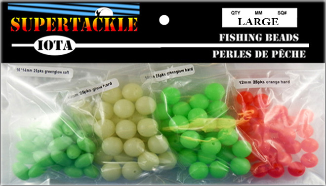 Large size 10 mm to 14 mm glow in the dark fishing and craft beads