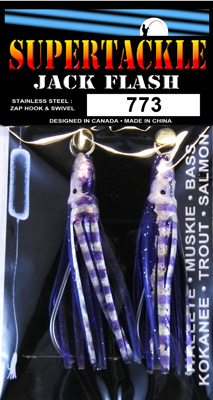 Purple Jaws fishing lures for salmon trolling.