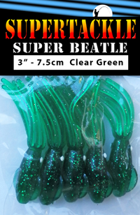 Super Beatle fishing squid, 3 inch green