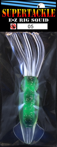 EZ Rig squid, 6 Inch, Green Haze by Supertackle