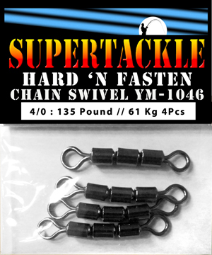Halibut fishing chain swivel